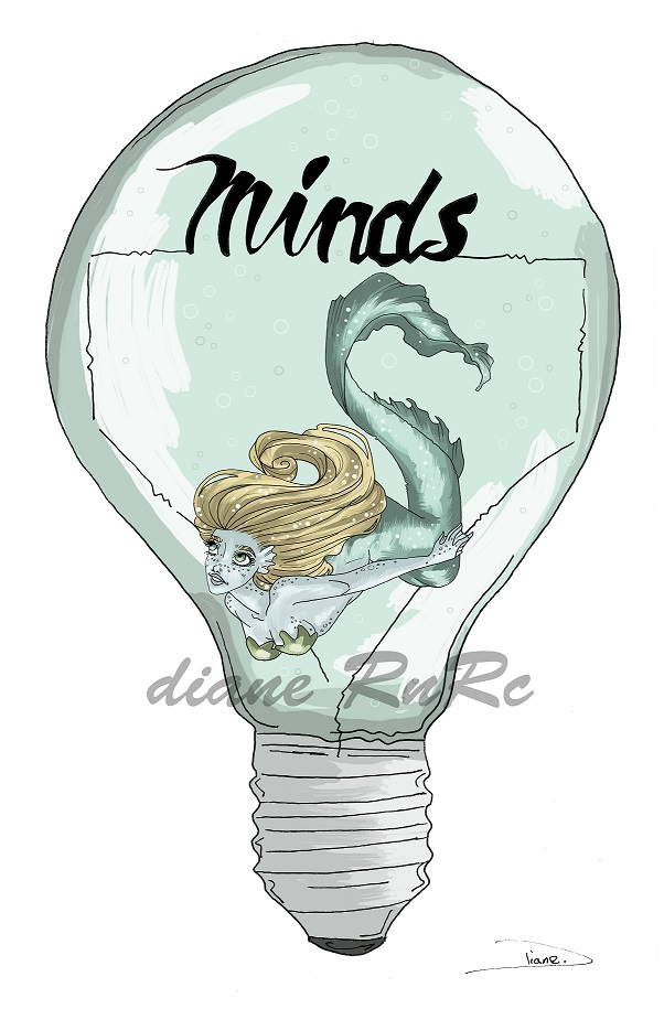 mermaid in a lightbulb